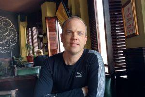 Brian at restaurant