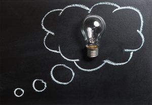 fresh idea with lightbulb