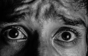 fearful eyes